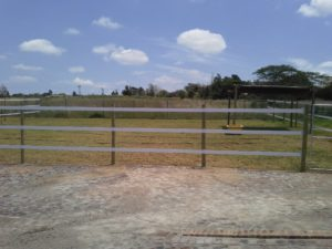 Safety4Horses fence rail installation in Pretoria