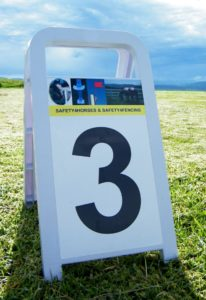 """A"" boards for show jump numbers and dressage letters"